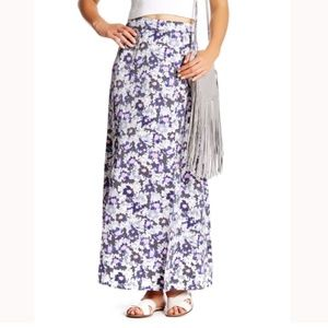 Kensie Double Slit Floral Maxi Skirt